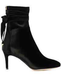Monique Lhuillier - Tie Detail Stiletto Boots - Lyst