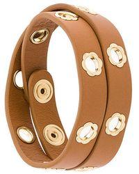 Ferragamo - Flower Eyelet Bracelet - Lyst