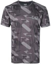 EA7 - Colour-block Logo T-shirt - Lyst