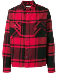 Off-White c/o Virgil Abloh Stencil Plaid Flannel Shirt