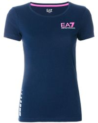 EA7 - Slim Logo T-shirt - Lyst
