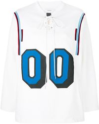 Facetasm - Lace-up Oversized Sweatshirt - Lyst