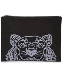KENZO - Tiger Embroidered Pouch Bag - Lyst