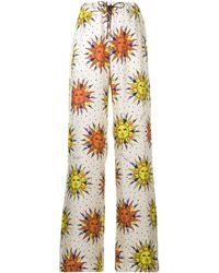 Fausto Puglisi Sun Printed Wide Pants