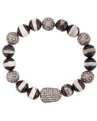 Loree Rodkin - Agate Beaded Diamond Bracelet - Lyst
