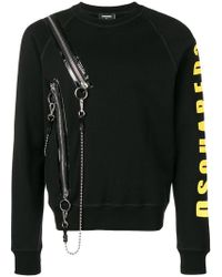 DSquared² - Jersey con cremalleras laterales - Lyst