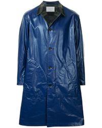 Kolor - Contrast Collar Single Breasted Coat - Lyst