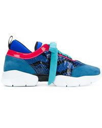 Emilio Pucci - Colour Block Lace-up Sneakers - Lyst