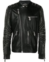 cb9e7043d0 Men's Philipp Plein Leather jackets On Sale - Lyst