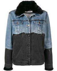 Night Market - Fur Collar Denim Jacket - Lyst