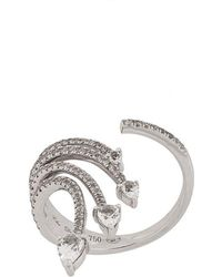 Elise Dray - 18kt White Gold And Diamond Ring - Lyst
