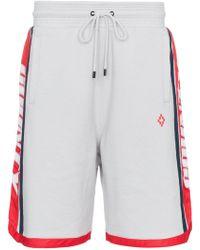 Marcelo Burlon - Logo Band Cotton Shorts - Lyst