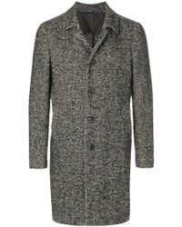 Dell'Oglio   Long Sleeved Button Up Coat   Lyst