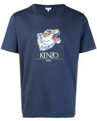 KENZO - Tiger Head T-shirt - Lyst