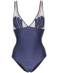 Adriana Degreas - Marine Shell Mesh Swimsuit - Lyst