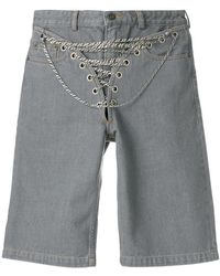 Y. Project - Chain Detail Denim Short - Lyst