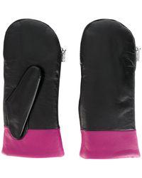 KENZO - Contrast Trim Fingerless Gloves - Lyst