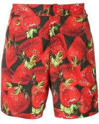 Moschino - Strawberry Print Swimming Trunks - Lyst