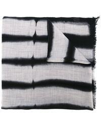 Suzusan - Striped Effect Frayed Scarf - Lyst