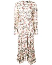 f617b61f2e Isabel Marant Brodie Floral Print V-neck Dress in Blue - Lyst