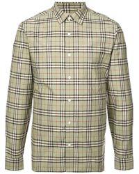 Burberry - Chequered Button Shirt - Lyst
