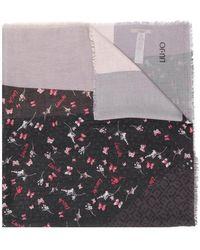 Liu Jo - Frayed Hem Printed Scarf - Lyst