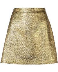 MILLY - Metallic Mini Skirt - Lyst