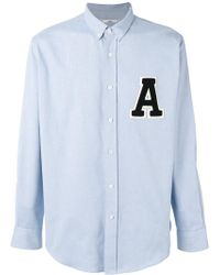 AMI - 'a' Patch Shirt - Lyst