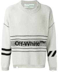 Off-White c/o Virgil Abloh - Jersey con logo en intarsia - Lyst