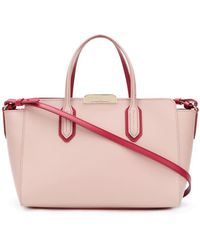 EA7 - Leather Contrast Tote Bag - Lyst