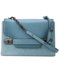 f4dd061d0843 Lyst - COACH Denim Color Block Soft Swagger in Blue