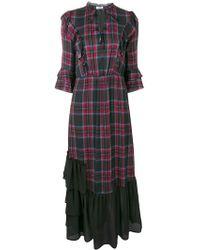 Liu Jo - Tartan Ruffle Dress - Lyst