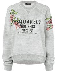 DSquared² - Flower Patch Logo Sweatshirt - Lyst