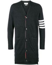 Thom Browne - 4 Bar-stripe Knitted Cardigan - Lyst