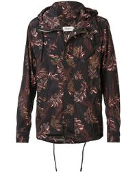 COACH - Printed Hooded Windbreaker - Lyst