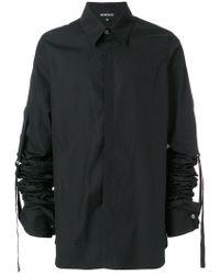 Ann Demeulemeester Blanche - Gathered Sleeve Shirt - Lyst