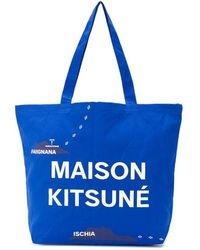 Maison Kitsuné - All-over Mappa Tote Bag - Lyst