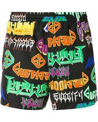 Gucci - Metal Logo Print Swim Shorts - Lyst