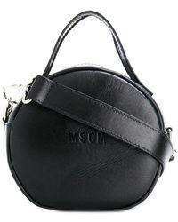 MSGM - Round Crossbody Logo Bag - Lyst