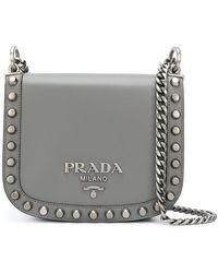 Prada - Studded Crossbody Bag - Lyst