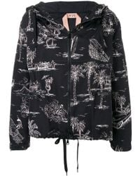 N°21 - Palm Trees Hooded Jacket - Lyst