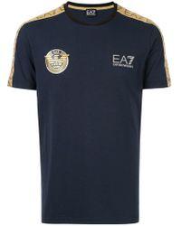 EA7 - Soccer Archive Tape T-shirt - Lyst
