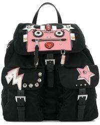 Prada - All Designer Products - Robot Multi-pocket Backpack - Lyst