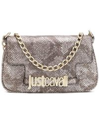 Just Cavalli - Snakeskin Effect Clutch Bag - Lyst