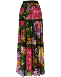 Twin Set - Floral Flared Skirt - Lyst