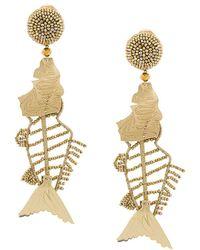 Oscar de la Renta - Beaded Fish Earrings - Lyst