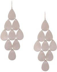 Irene Neuwirth - 18kt White Gold Nine-drop Chandelier Earrings - Lyst