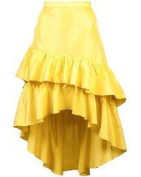 Cynthia Rowley - Ruffle Midi Skirt - Lyst