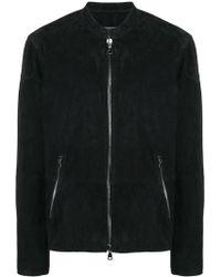 John Varvatos - Zipped Jacket - Lyst