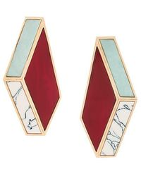 Eshvi - Nino Eliava X Marble Effect Earrings - Lyst